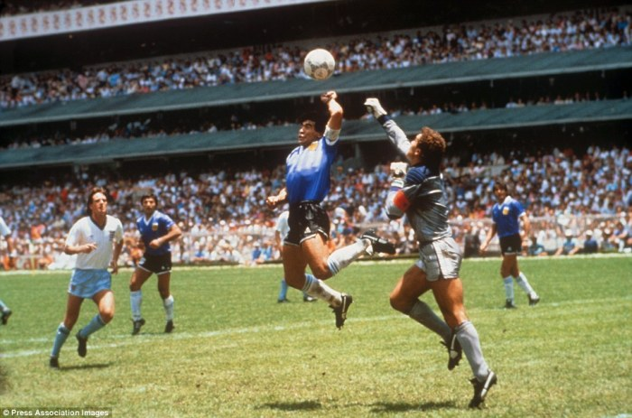 Why ever would he want to cheat against blameless England? Maradona in 86