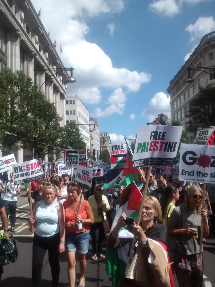 Protest for Gaza on Oxford Street