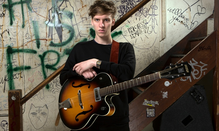 The old standing in front of graffiti to make it look like you didn't grow up in a stately home trick: George Ezra
