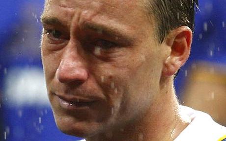 John Terry crying in the rain