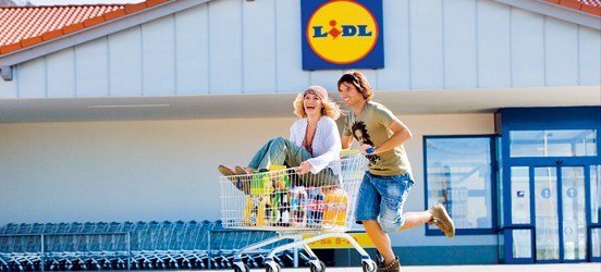 Typical fun-loving Lidl customers