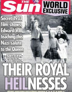 Harmless fun...the royal zieg heil